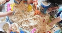 παιχνίδι με χειροποίητη άμμο
