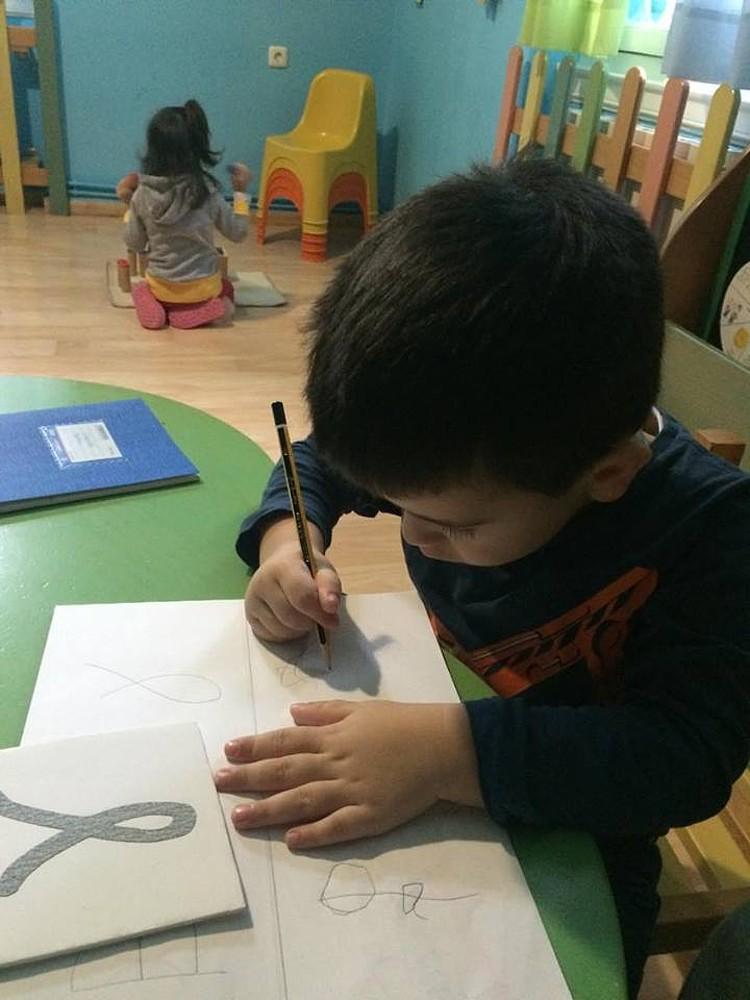 γράφουμε στον παιδικό σταθμό